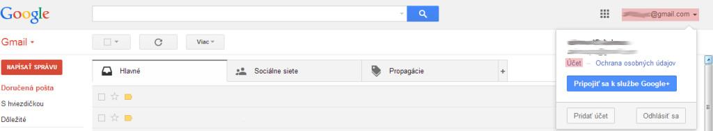 Záloha Google účtu