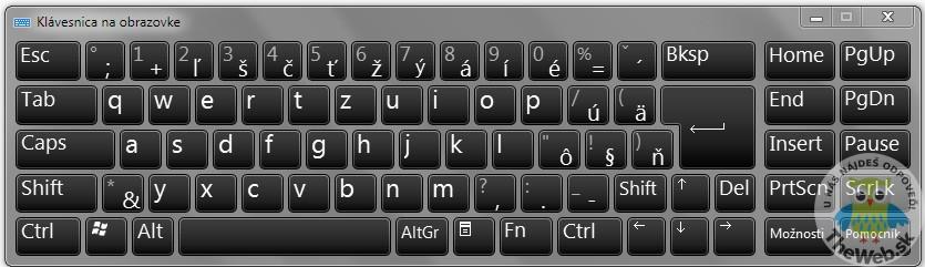 Ako zobraziť klávesnicu na obrazovke