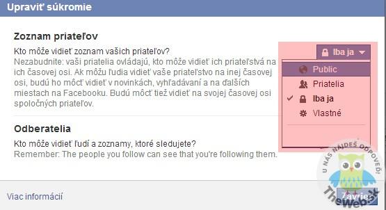 Ako skryť zoznam priateľov na facebooku