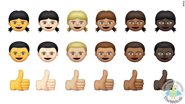 Noví smajlíci na iPhone, tentokrát s viac rasami